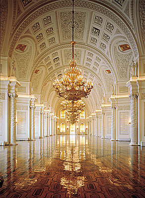The Georgievsky Hall of the Grand Kremlin Palace