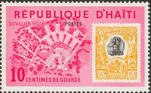Stamp with Dessalines
