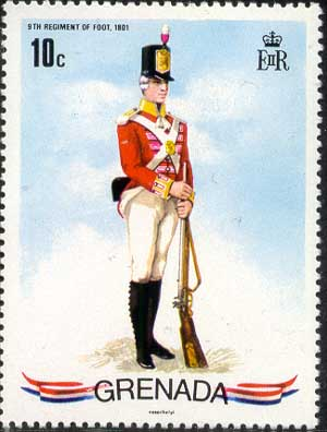 9th Regiments of Foot, 1801