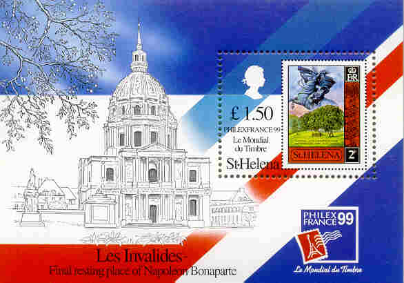 St. Helena stamp. Invalides