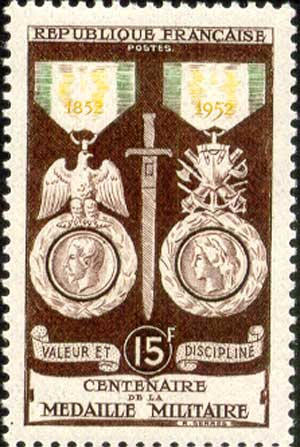 Medaille Militaire in 1852 and 1952