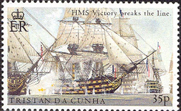 HMS «Victory» breaks the line