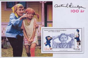 Astrid Lindgren and Emil from Lonnenberga