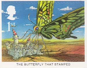 The Buttefly that stamped