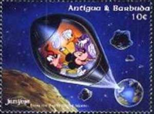 Mickey, Donald and Goofy in space rocket