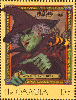 Witch and evil bees