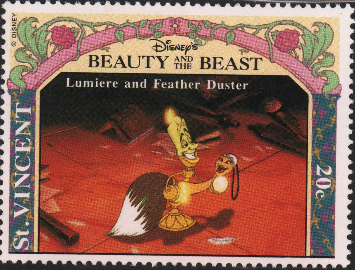 Lumiere and Feather Duster