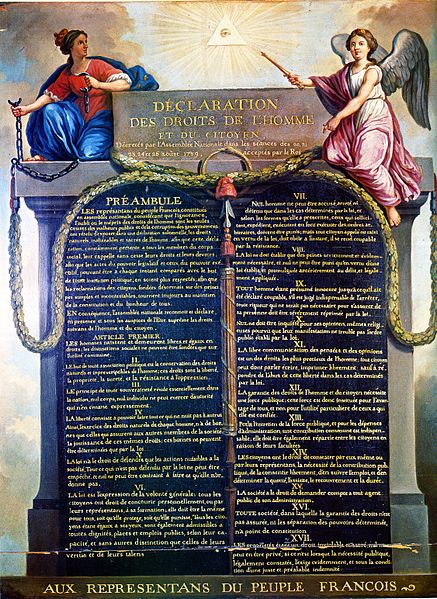 Adoption of the Declaration of the Rights of Man and of the Citizen