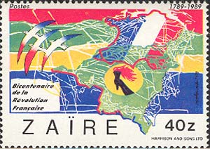 Maps of France and Zaire