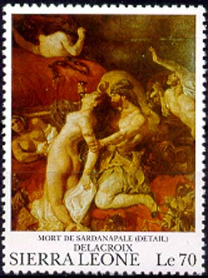 Death of Sardanapale