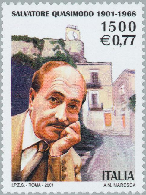 Philatelia.Net: The literature / Stamps / Salvatore Quasimodo