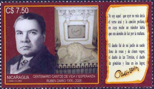 Ruben Dario and his tomb