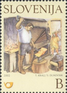 Martin Krpan in the Blacksmith`s