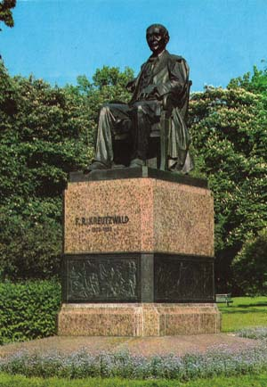 Kreutzwald monument in Tallinn