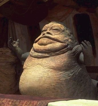 Jabba was originally portrayed