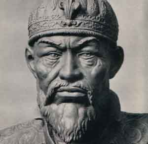 "Timur, also written Emir Timur or Amir Temur (تیمور - Tēmōr, ""iron""), among his other names, commonly called Tamerlane or Timur the Lame(1336—1405)"