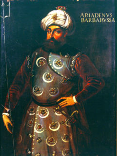 Hayreddin Barbarossa Pasha (Barbaros Hayreddin Paşa or Hızır Hayreddin Paşa; also Hızır Reis before being promoted to the rank of Pasha) (c. 1478–1546)