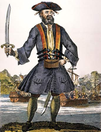 Teach Edward, better known as Blackbeard (c. 1680—1718)