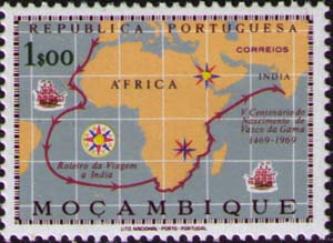 Route Map of Da Gama's Voyage