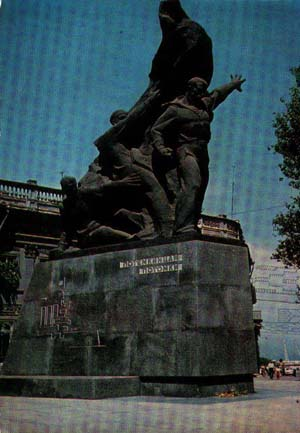 Monument to sailors fom «Potemkin» in Odessa