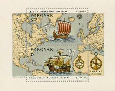 Map and ship of Leif Eriksson