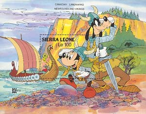 Mickey and Goofy as Vikings