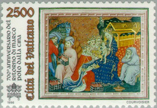 Marco Polo in Persia listening to Nativity story