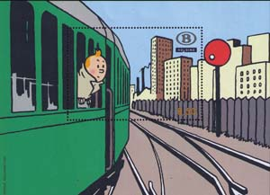 Tintin in train