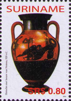Amphorae with Heracles