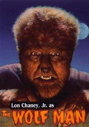 Lon Chaney Jr in The Wolf Man